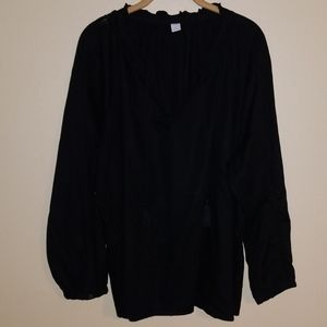 Old navy black peasant blouse